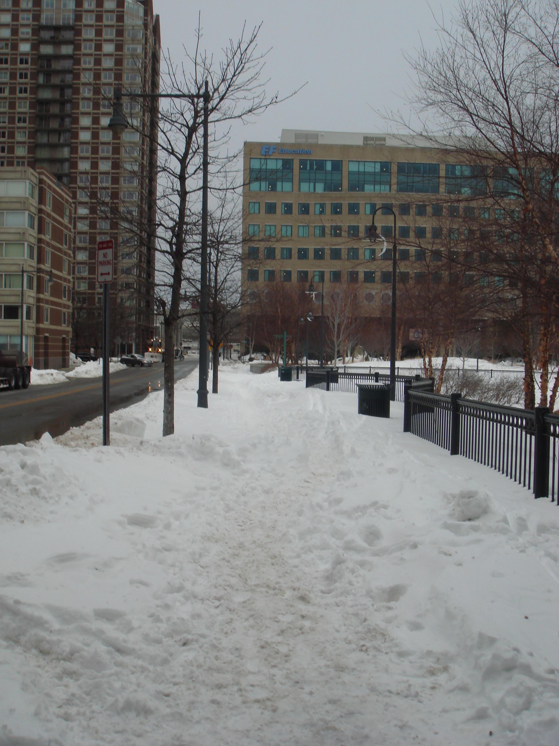 大雪後のボストン
