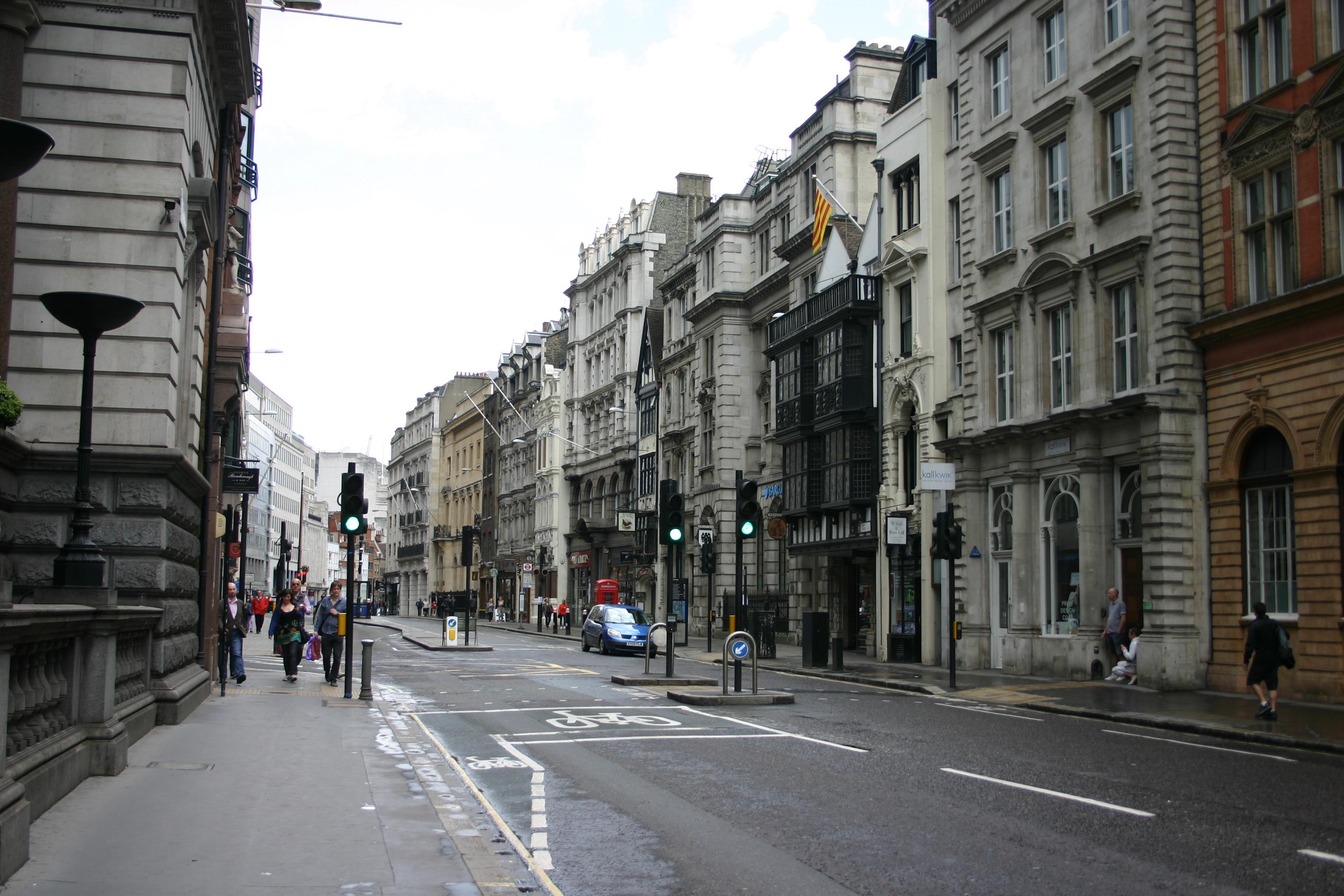 ロンドン市内の風景