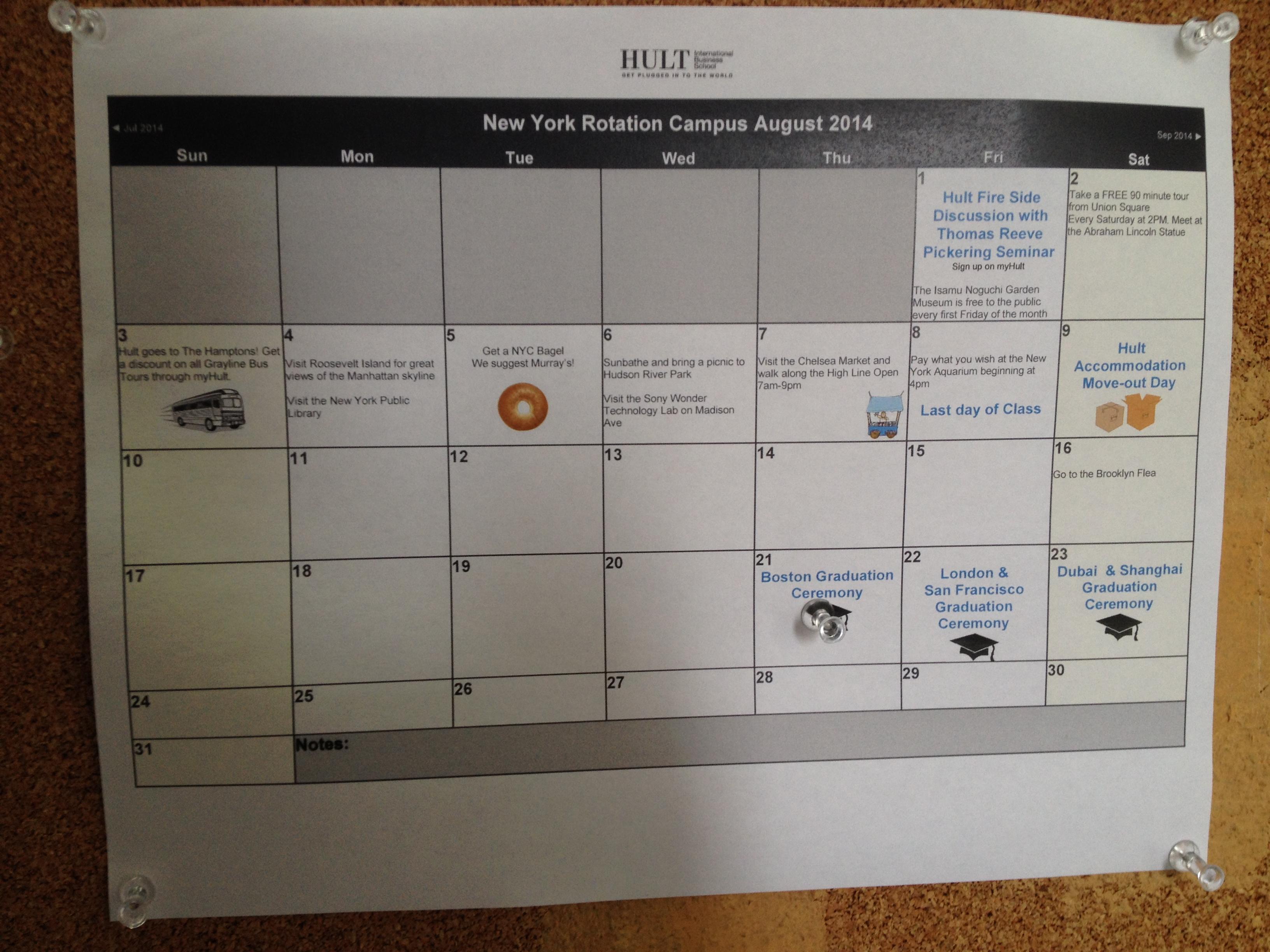 Hultニューヨーク・イベントカレンダー(2)