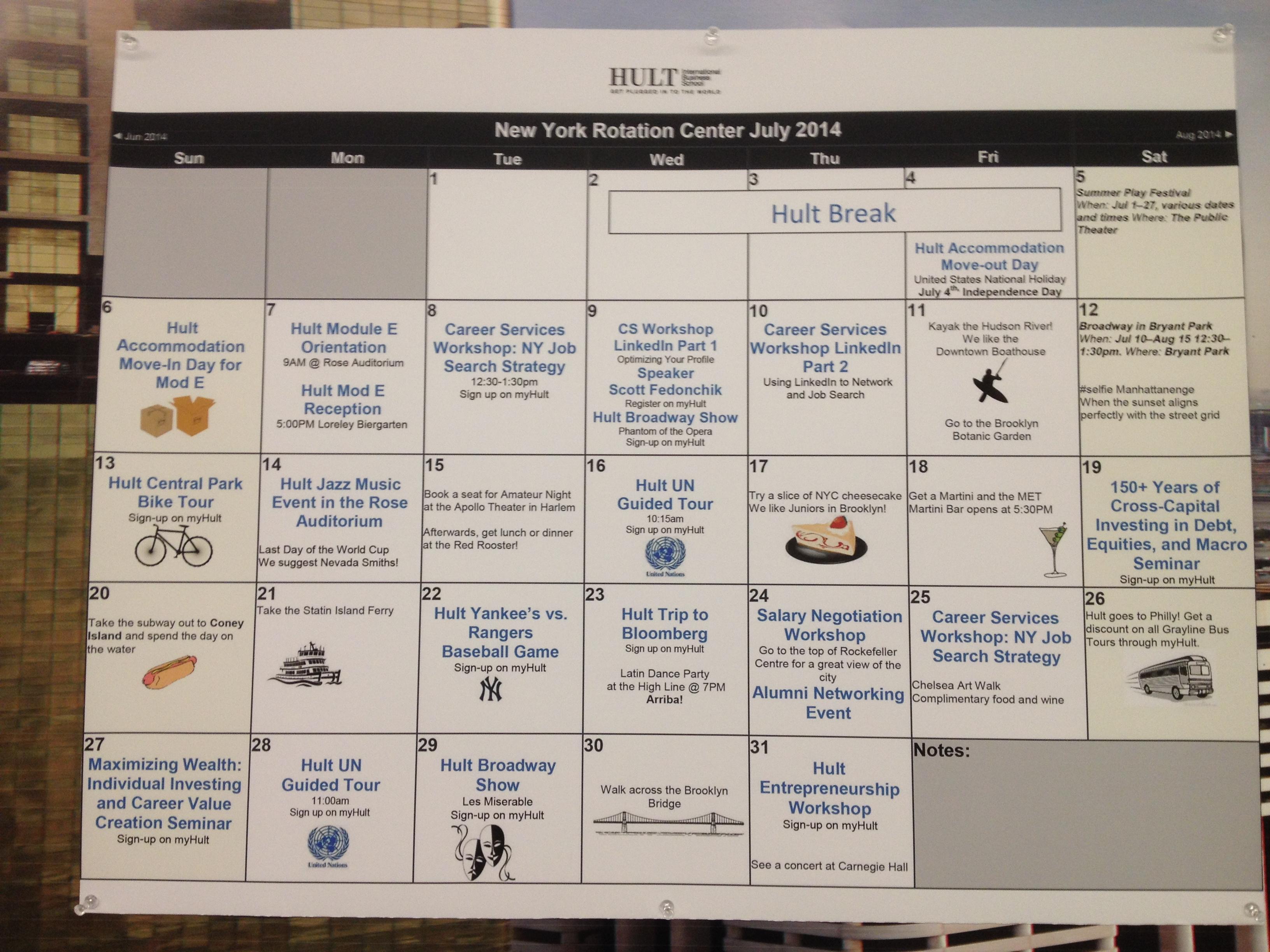 Hultニューヨーク・イベントカレンダー(3)